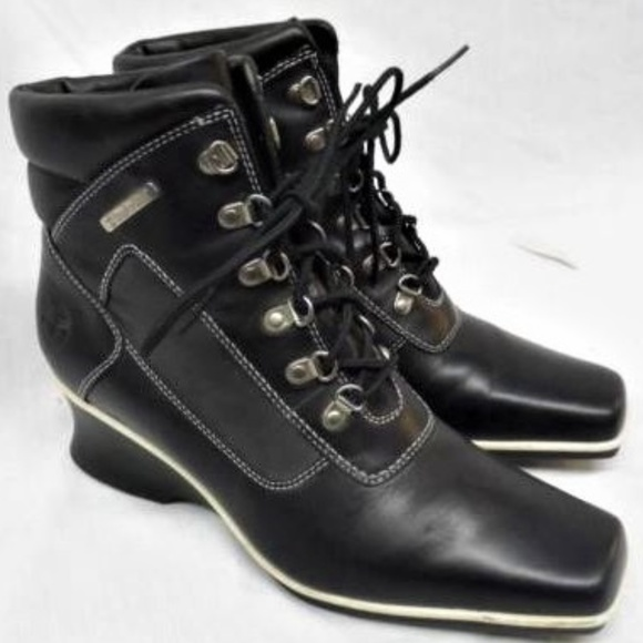 Timberland Leather Square Toe Laceup
